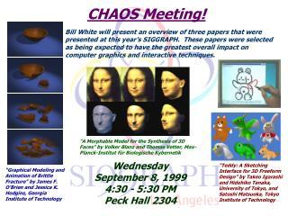 CHAOS Meeting!