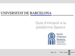 Guia d'iniciació a la plataforma Speexx