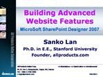 Building Advanced Website Features MicroSoft SharePoint Designer 2007