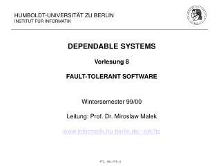 HUMBOLDT-UNIVERSITÄT ZU BERLIN INSTITUT FÜR INFORMATIK