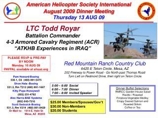 LTC Todd Royar Battalion Commander 4-3 Armored Cavalry Regiment (ACR)