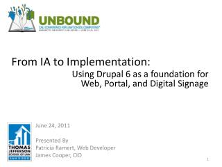 From IA to Implementation: