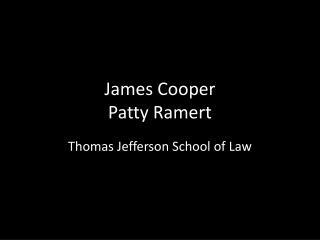 James Cooper Patty Ramert