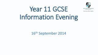 Year 11 GCSE Information Evening