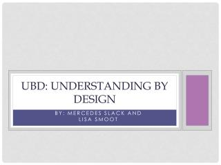 UbD : Understanding by Design