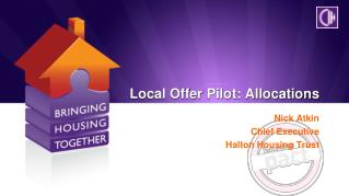 Local Offer Pilot: Allocations
