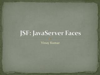 JSF: JavaServer Faces