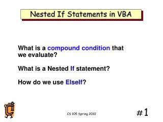 Nested If Statements in VBA