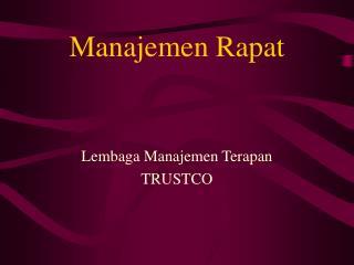 Manajemen Rapat