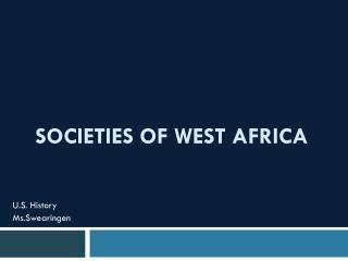 Societies Of West Africa
