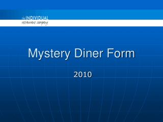 Mystery Diner Form
