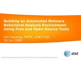 Building an Automated Malware Behavioral Analysis Environment Using Free and Open-Source Tools