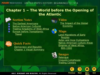 Chapter 1 – The World before the Opening of the Atlantic