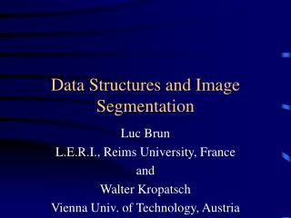 Data Structures and Image Segmentation
