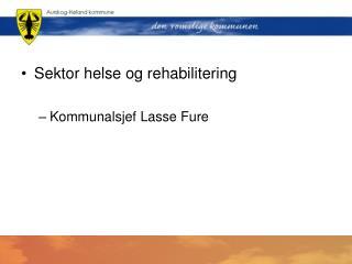 Sektor helse og rehabilitering Kommunalsjef Lasse Fure