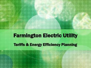 Farmington Electric Utility