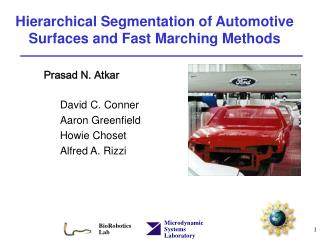 Hierarchical Segmentation of Automotive Surfaces and Fast Marching Methods
