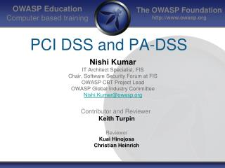 PCI DSS and PA-DSS