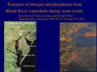 Transport of nitrogen and phosphorus from Rhode River watersheds during storm events