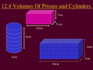 12.4 Volumes  Of  Prisms and Cylinders.