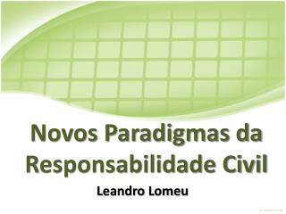 Novos Paradigmas da Responsabilidade Civil