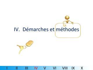 Démarches et méthodes
