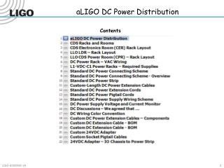 aLIGO DC Power Distribution