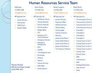 Human Resources Service Team