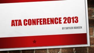 ATA Conference 2013