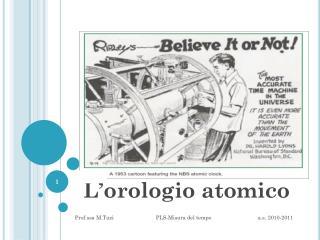 L'orologio atomico