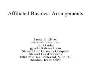 Affiliated Business Arrangements