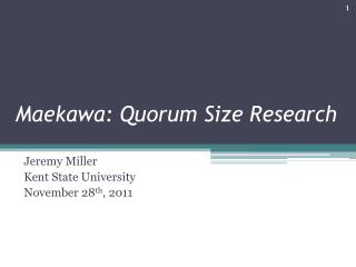 Maekawa: Quorum Size Research