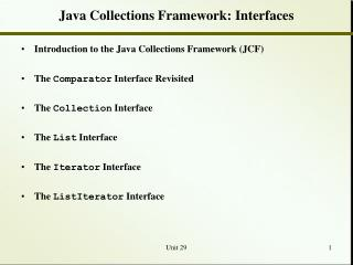 Java Collections Framework: Interfaces