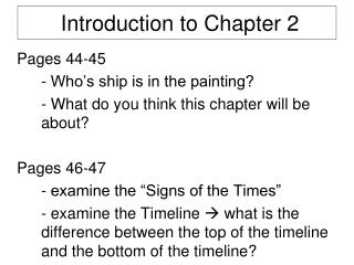Introduction to Chapter 2