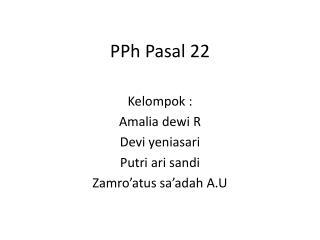 PPh  Pasal  22