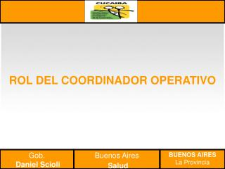 ROL DEL COORDINADOR OPERATIVO