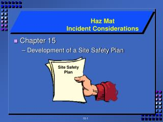 Chapter 15 Development of a Site Safety Plan