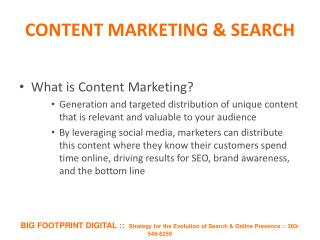 CONTENT MARKETING & SEARCH