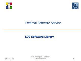 External Software Service