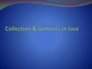 Collection  &  Generics  in Java