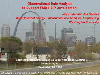 Observational Data Analysis  to Support PM2.5 SIP Development