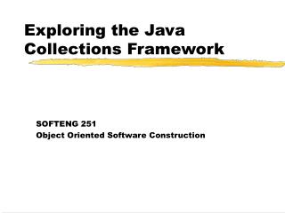 Exploring the Java Collections Framework