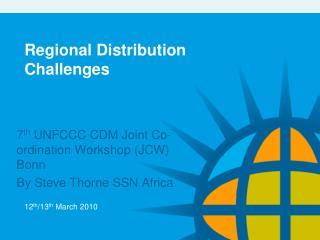 Regional Distribution Challenges