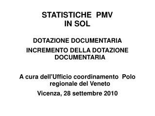 STATISTICHE  PMV  IN SOL