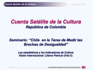 Cuenta Sat lite de la Cultura Rep blica de Colombia   Seminario:  Chile  en la Tarea de Medir las Brechas de Desigualdad