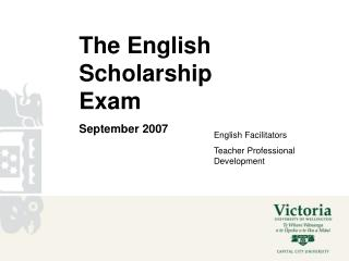 The English Scholarship Exam September 2007