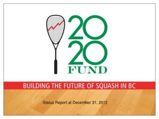 Status Report at December 31, 2012