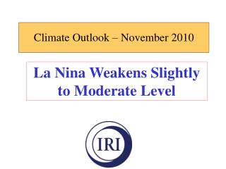 Climate Outlook – November 2010