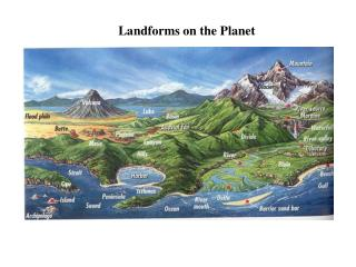 Landforms on the Planet