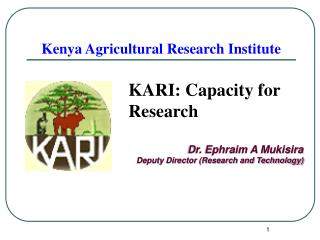 Kenya Agricultural Research Institute